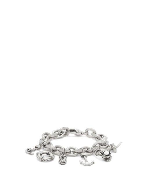 Saint Laurent - Nautical-charm Bracelet - Womens - Silver