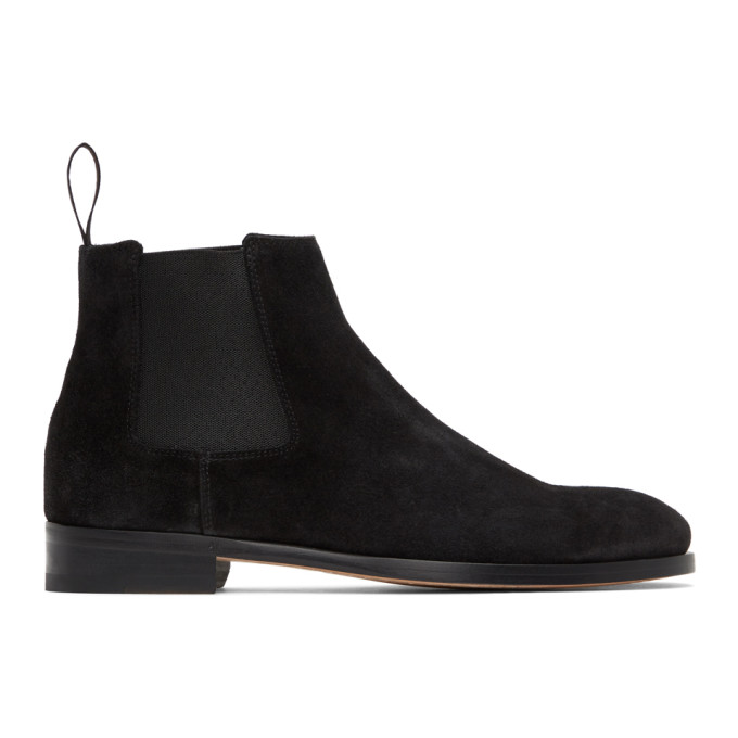 Paul Smith 黑色 Crown 绒面革切尔西靴
