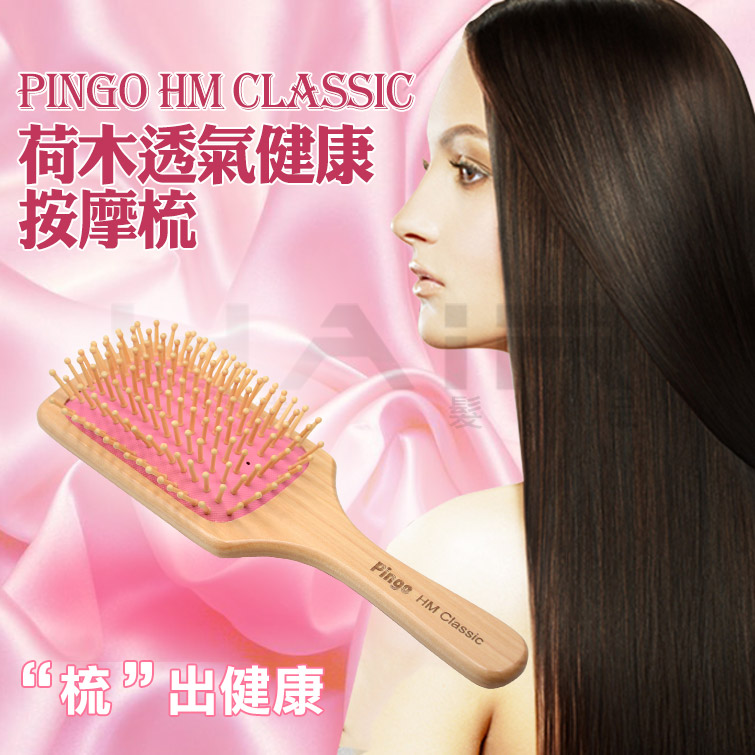 Pingo台灣品工HM Classic荷木透氣健康按摩梳