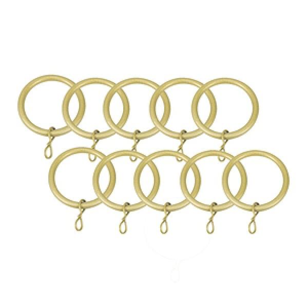 特力屋金屬窗簾桿金屬環10入金色