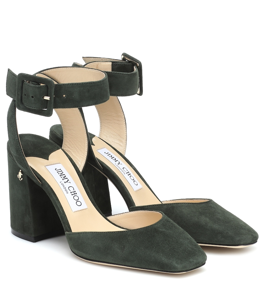 Jinn 85 suede pumps