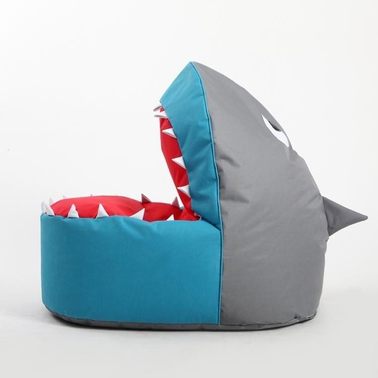 休閒小沙發豆袋兒童卡通布藝鯊魚懶人沙發創意單人可愛榻榻米椅床