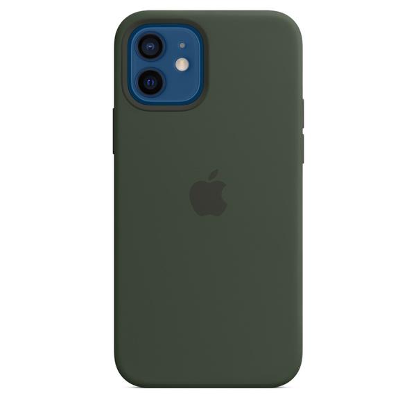 iPhone 12 | 12 Pro MagSafe 矽膠保護殼 - 賽普勒斯綠色