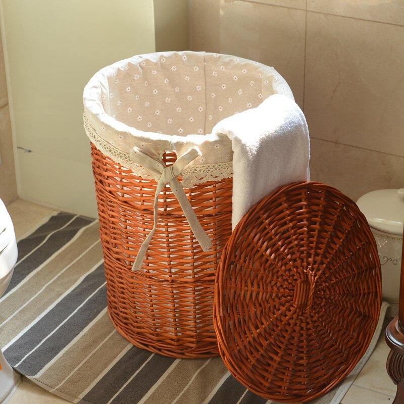 臟衣籃藤編織有蓋臟衣服收納筐臟衣桶簍布藝 雙十一