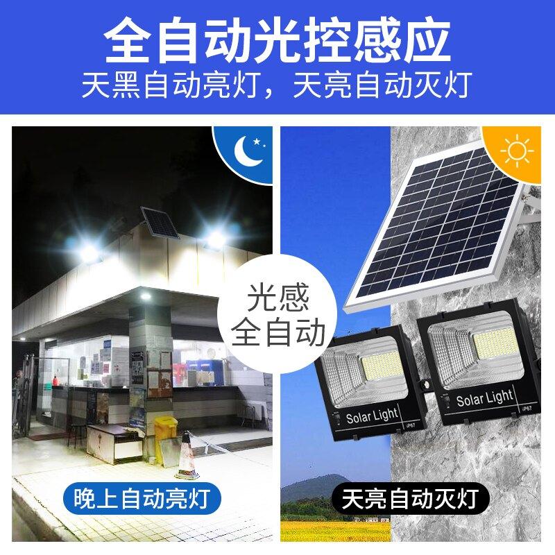 太陽能庭院燈大功率戶外燈新農村室內超亮防水家用照明一拖二路燈 小山好物