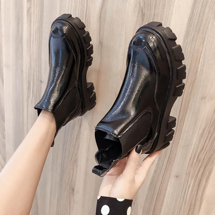 馬丁靴女潮ins英倫風春秋單靴2020年新款百搭厚底增高瘦瘦短靴子 萬聖節