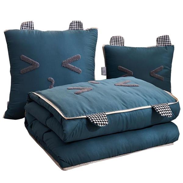 抱枕被子兩用汽車載折疊午睡毯小靠枕頭多功能二合一【倪醬小鋪】