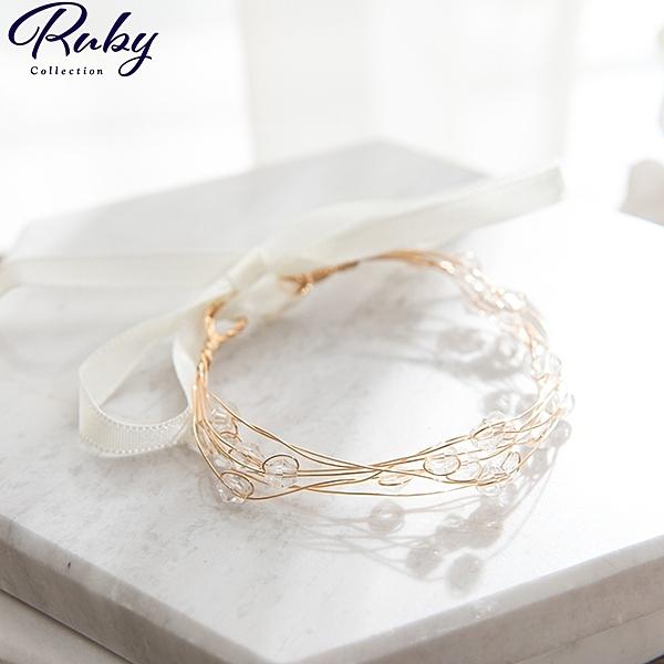手環 串珠軟絲綁帶手環-Ruby s 露比午茶