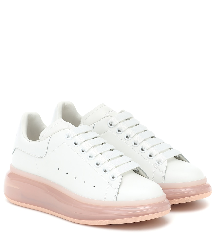 Bubble leather sneakers