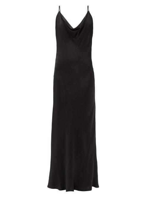 Dodo Bar Or - Shila Scooped-back Satin Dress - Womens - Black