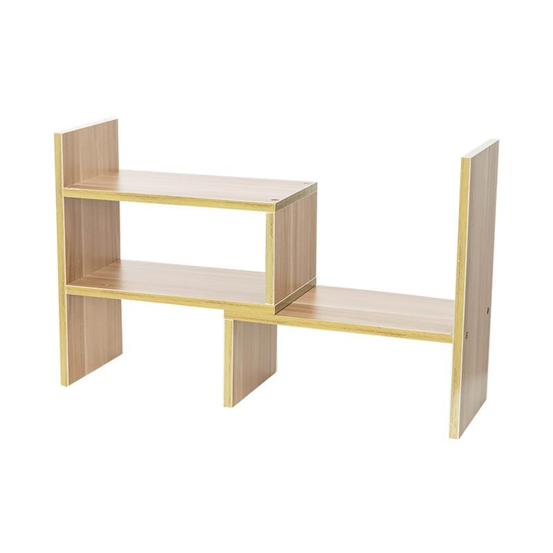 多功能桌上型伸縮置物架 S型 可堆疊 桌上型書架 伸縮置物架 收納架 書櫃 擺飾 層架 桌上收納 桌面收納【A080】