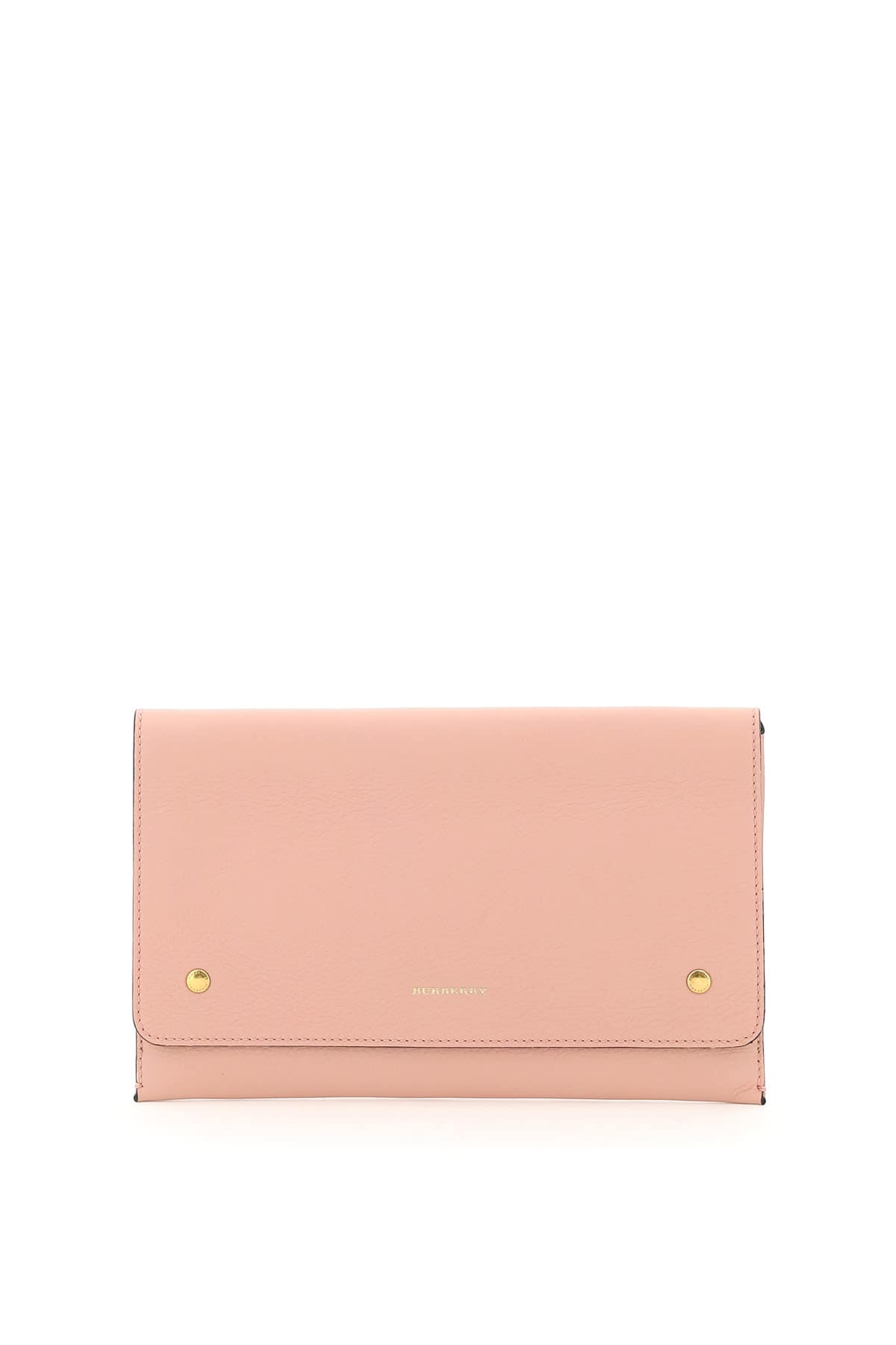 BURBERRY PEARSON LEATHER POUCH OS Pink Leather
