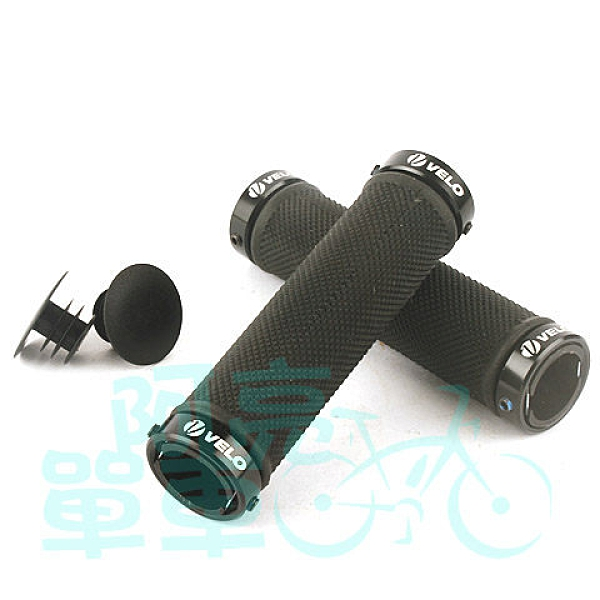 *阿亮單車*VELO 螺絲固定式手握把,專業的壓紋,安全與舒適兩者兼具,黑色《A58-001》