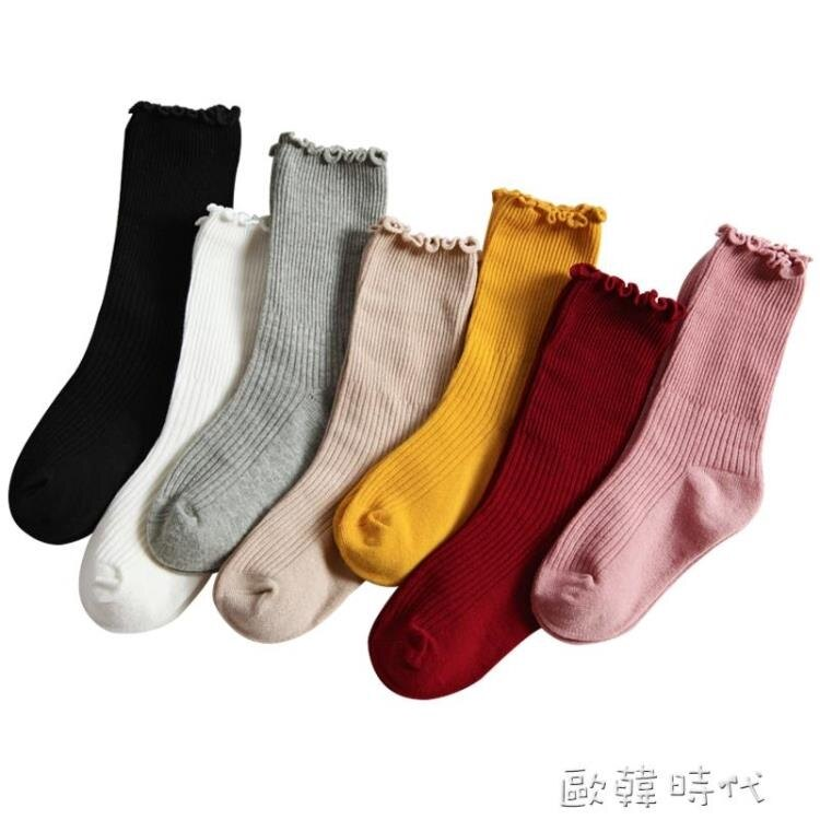 樂天優選~女童襪子純棉堆堆襪春秋薄款韓國洋氣寶寶兒童花邊襪子中筒韓版夏