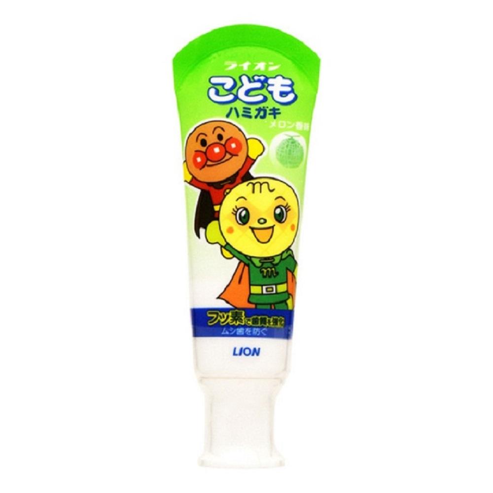 日本【LION】麵包超人 哈密瓜牙膏40g