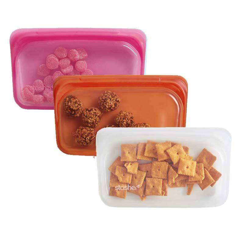 長形矽膠密封袋 三入組(繽紛多色) 熱帶鳳梨/木瓜牛奶/紅心芭樂