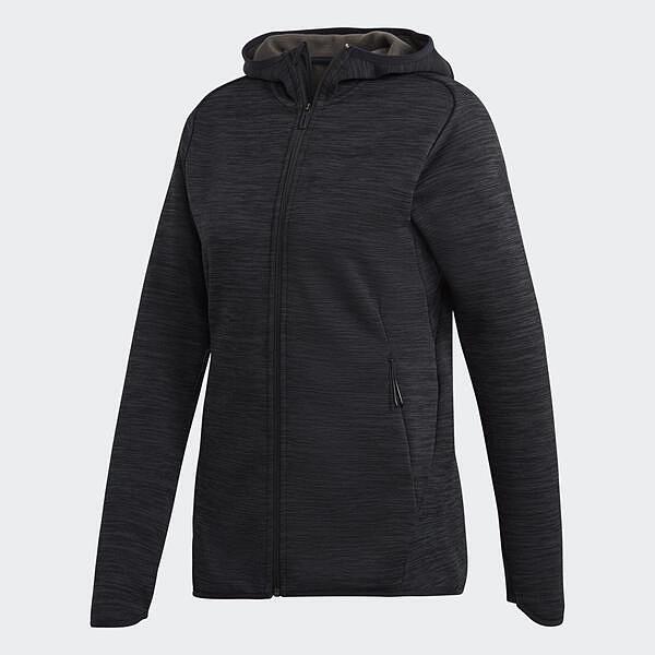 Adidas FL CH Hoodie [DM4398] 女 外套 連帽 運動 休閒 舒適 保暖 防風 口袋 灰黑