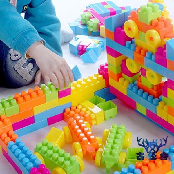 幼兒童塑料大號顆粒積木桌拼圖拼裝玩具寶寶益智 【古怪舍】