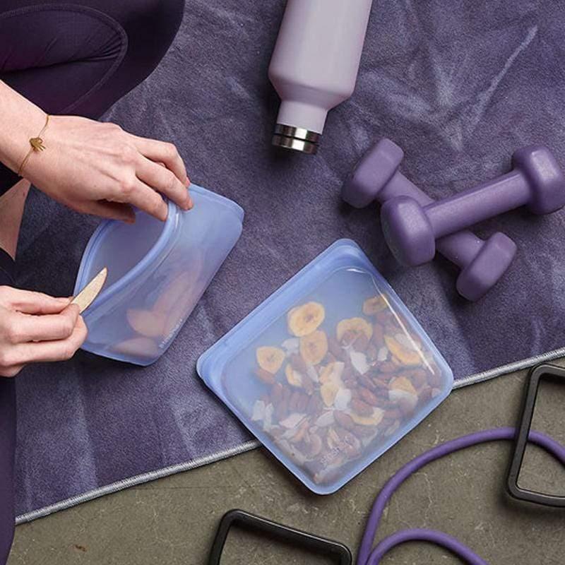 方形矽膠密封袋 三入組(純色) 飛瀑藍x3