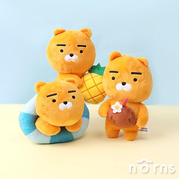 Kakao Friends絨毛玩偶6吋坐姿 夏日系列- Norns 正版授權娃娃 吊飾 韓國Ryan萊恩