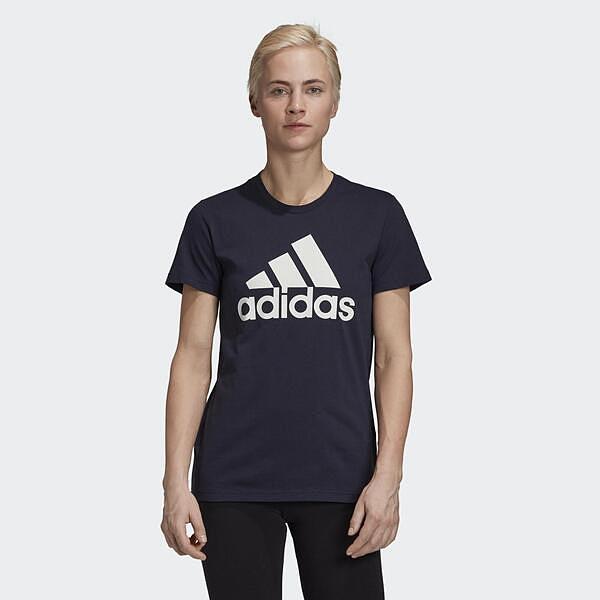 Adidas W BOS CO Tee [GK2513] 女 短袖 圓領 素色 純棉 合身 舒適 透氣 棉T 黑