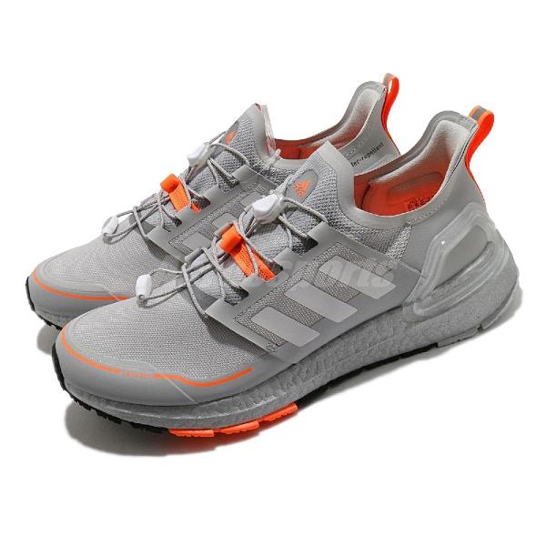 adidas 慢跑鞋 UltraBOOST C.RDY 灰 橘 男鞋 防潑水 Boost 頂級緩震舒適 【ACS】 EG9800