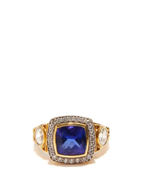 Jade Jagger - Diamond, Tanzanite & 18kt Gold Ring - Womens - Blue Gold