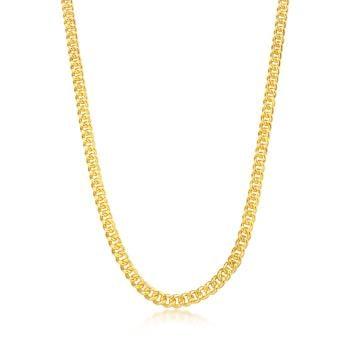 足金9999 機織素鍊 簡約環扣 黃金項鍊