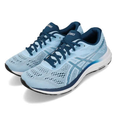 Asics 慢跑鞋 Gel Excite 6 D 寬楦 女鞋 藍 白 運動鞋