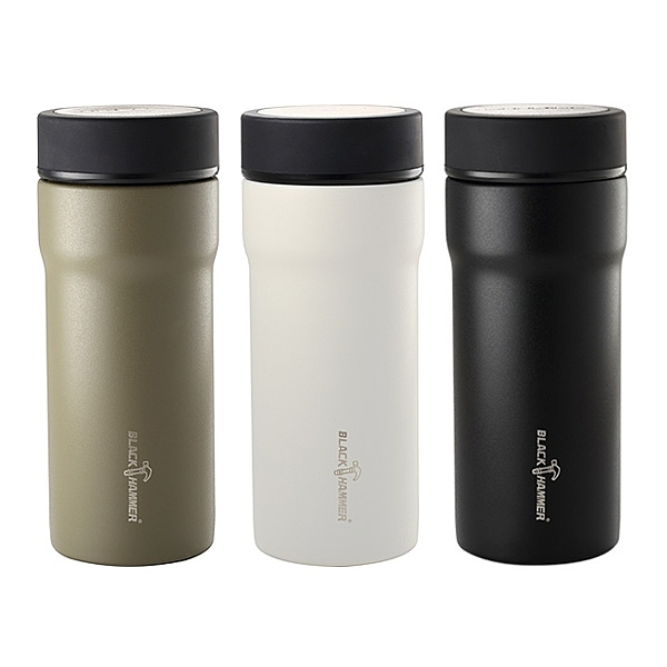 BLACK HAMMER 臻瓷不鏽鋼真空保溫杯(430ml) 顏色可選【小三美日】