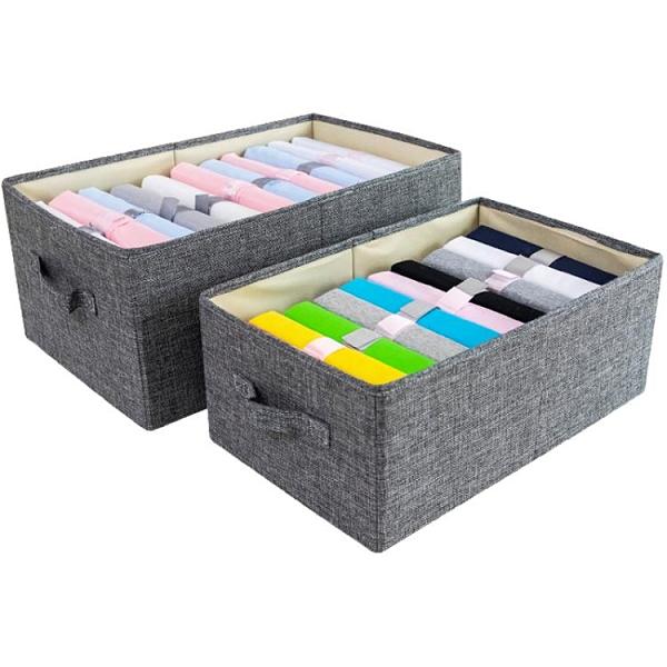 衣櫃收納箱布藝抽屜式儲物箱可折疊整理箱【聚寶屋】