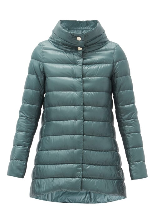 Herno - Amelia Quilted Down Jacket - Womens - Light Blue
