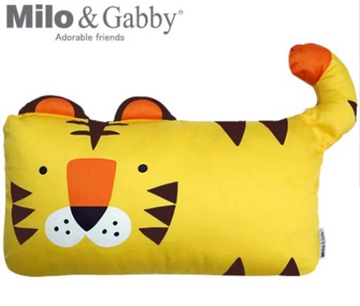 【淘氣寶寶】Milo& & Gabby 動物好朋友-mini枕頭套(TOM小虎)【100%純棉透氣舒適】