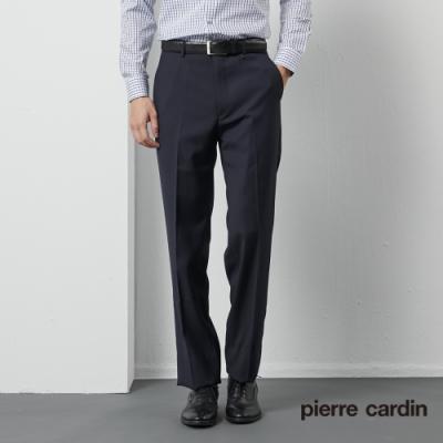 Pierre Cardin皮爾卡登 男裝 彈性平口西裝褲--深藍色(5185862-39)