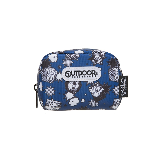 【OUTDOOR】Pokemon聯名款黑白漫畫單層零錢包-藍色 ODGO20A12NY