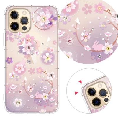 KnowStar iPhone 12 / i12 Pro 6.1吋 奧地利彩鑽防摔手機殼-京都櫻
