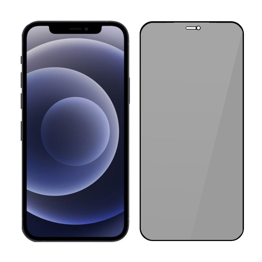 SSTAR iPhone 12/12 Pro (6.1吋) 2.5D 高透防窺鋼化玻璃保護貼-黑色