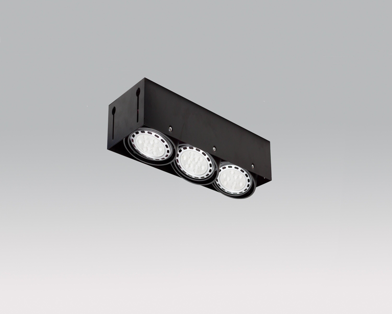 DV-11107 LED AR-111 無邊框三燈盒燈 (崁入孔440*150mm)