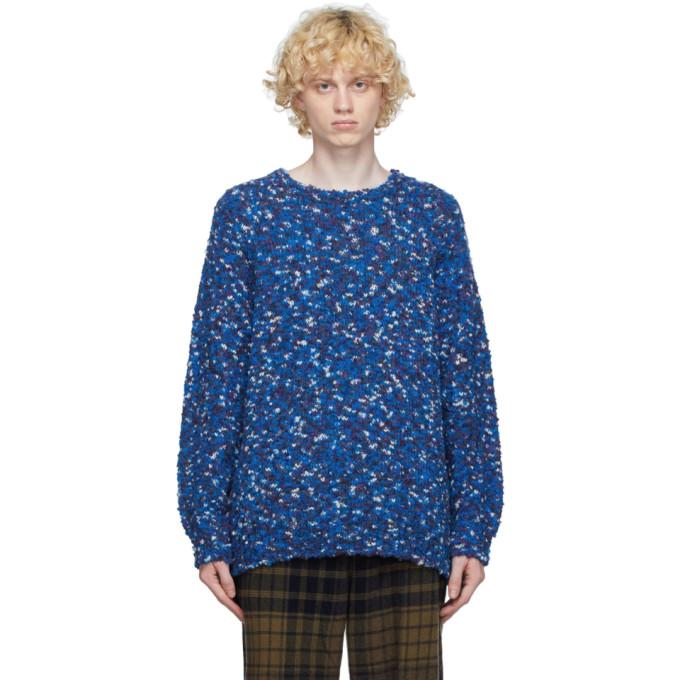 tss 蓝色夹色羊毛毛衣
