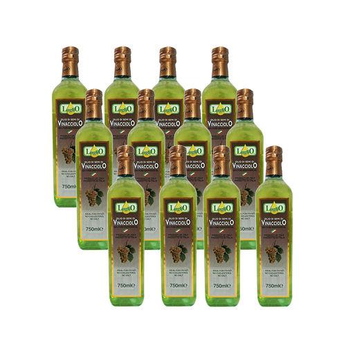 LugliO 義大利羅里奧特級葡萄籽油 750ml 12入組