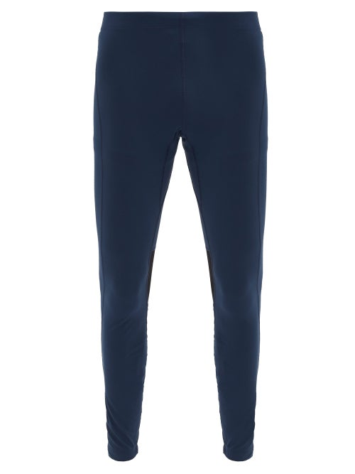 Iffley Road - Windsor 3.0 Stretch-jersey Running Tights - Mens - Navy