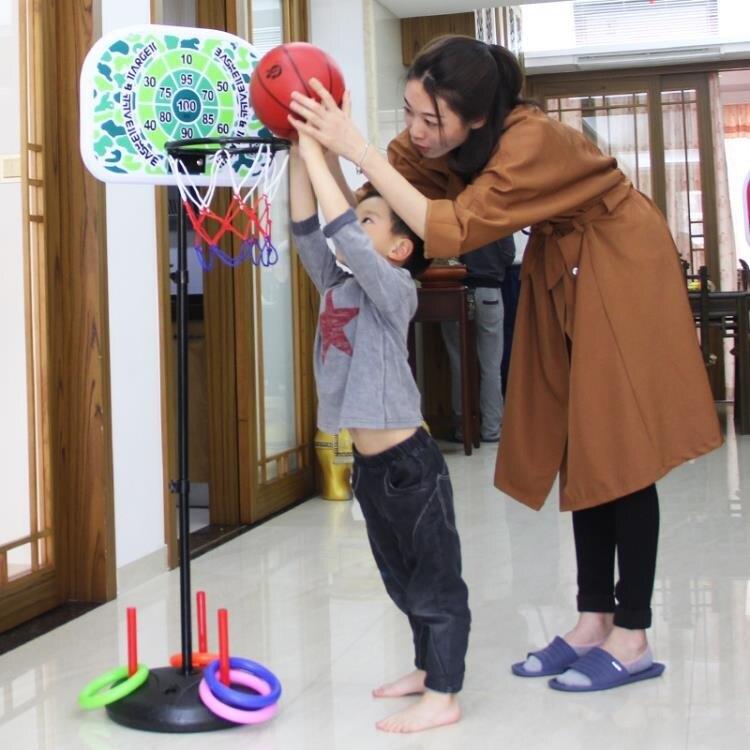 多功能兒童籃球架可升降寶寶戶外投籃框男孩玩具飛鏢盤室內 萬聖節鉅惠