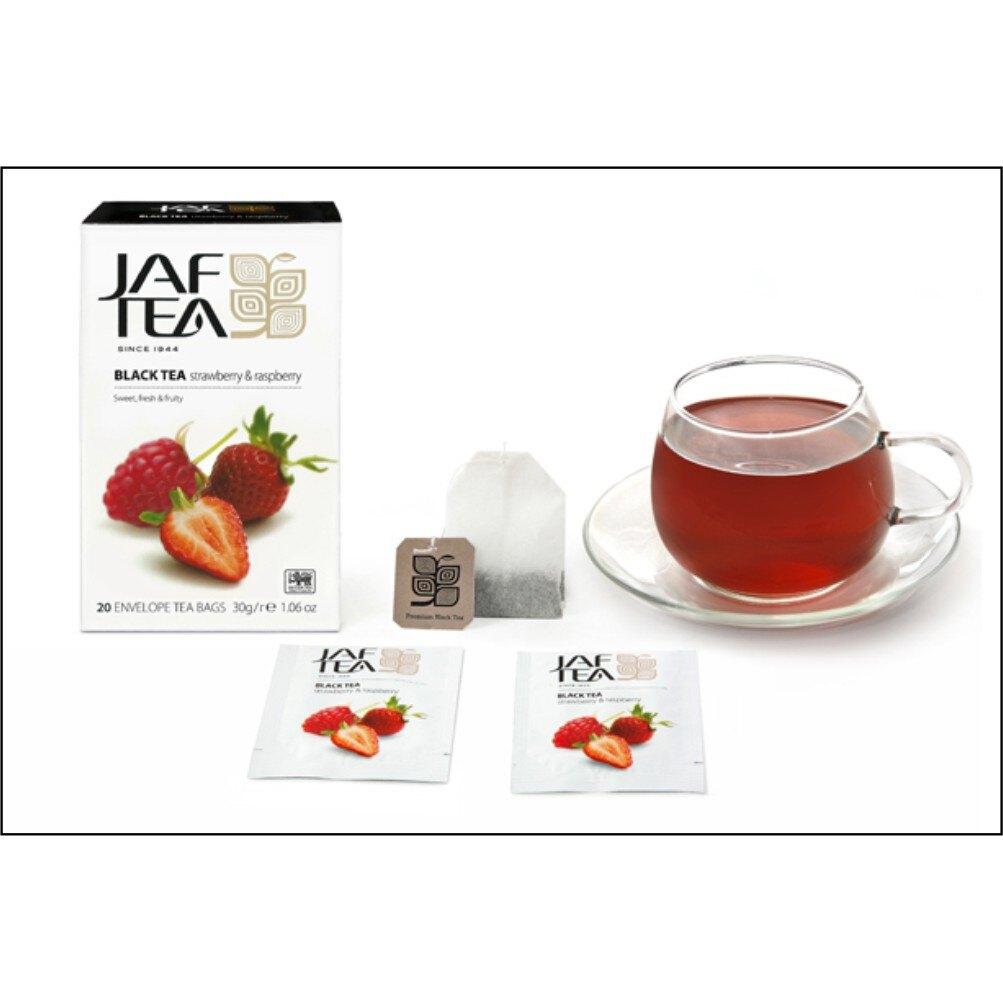 【JAF TEA 】斯里蘭卡原裝進口水果茶 20茶包/盒 (草莓覆盆子) 錫蘭紅茶 JAFTEA 歐西獅 Auesis