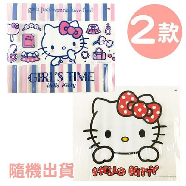 小禮堂 Hello Kitty 方形透明矽膠桌墊 環保桌墊 防水餐墊 36x45cm (2款隨機) 4713791-95848