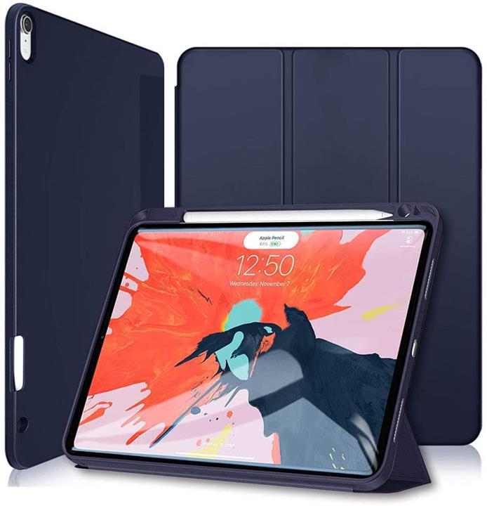 【日本代購】Wonzir 新 iPad Pro 12.9 保護殼 (2018款) 可收納Apple Pencil Apple Pencil 2代 藍色