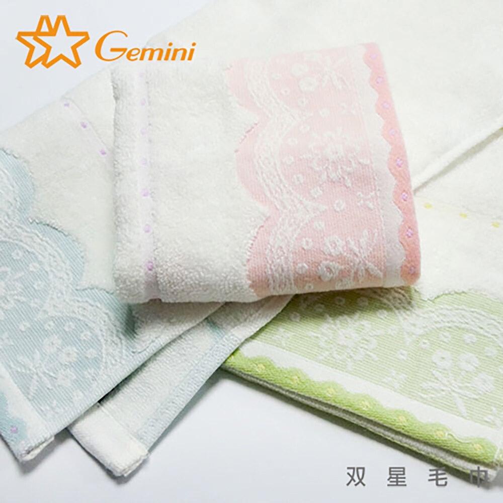 衛浴 毛巾 浴巾 方巾 居家生活  白紗無捻蕾絲緞系列 馬卡龍色系 / 3色【Gemini双星毛巾】