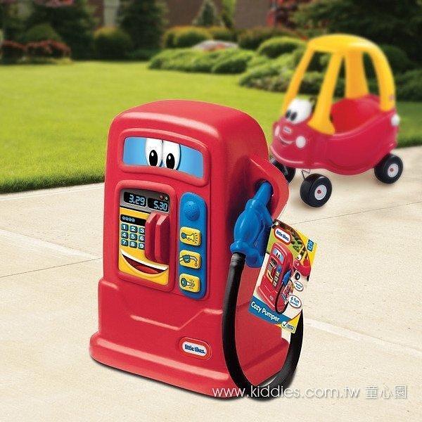 幼之圓*美國 Little Tikes 童趣加油站紅色 可以搭配腳行車使用