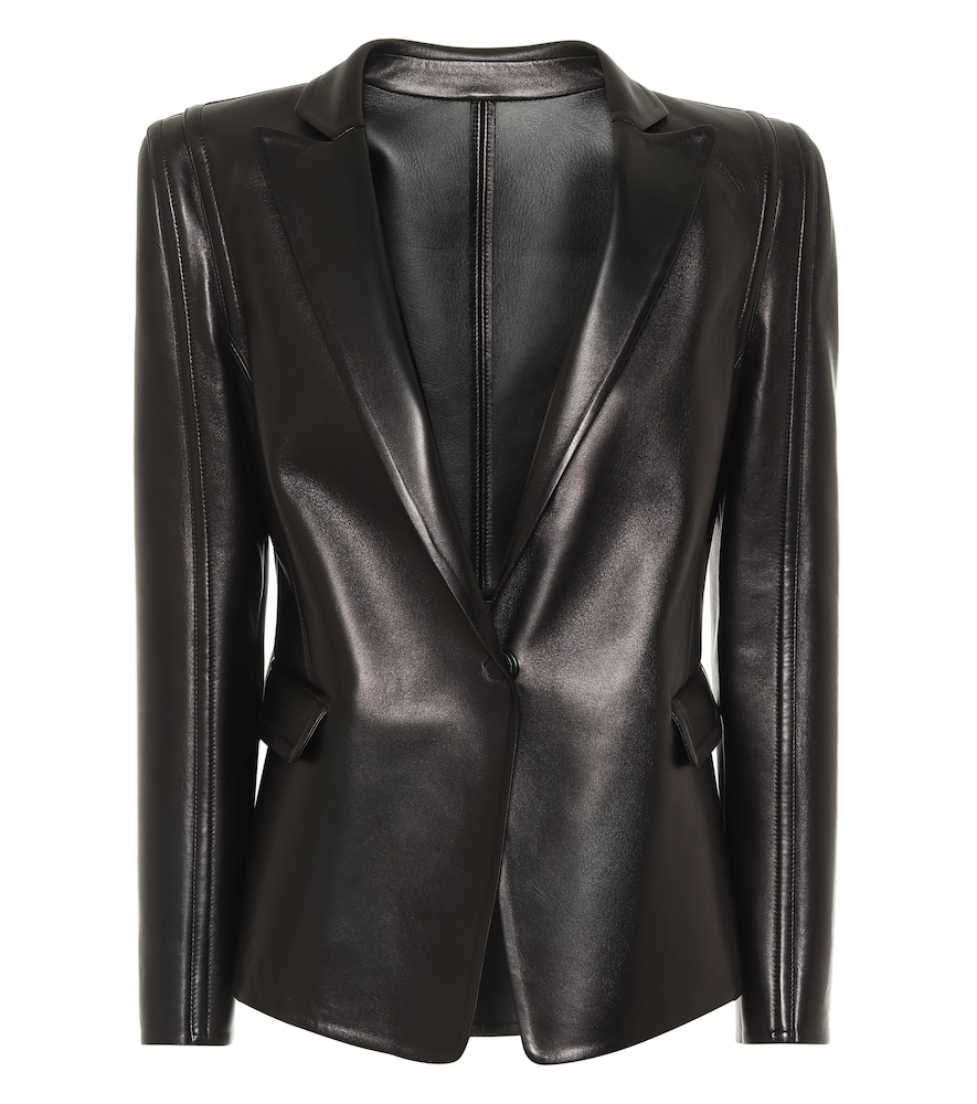 Valentino single-breasted leather blazer