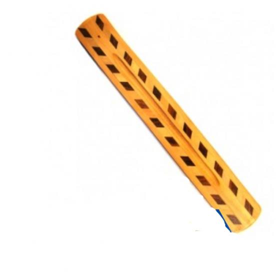印度雙色木製鑽石圖案香板 線香台 香插