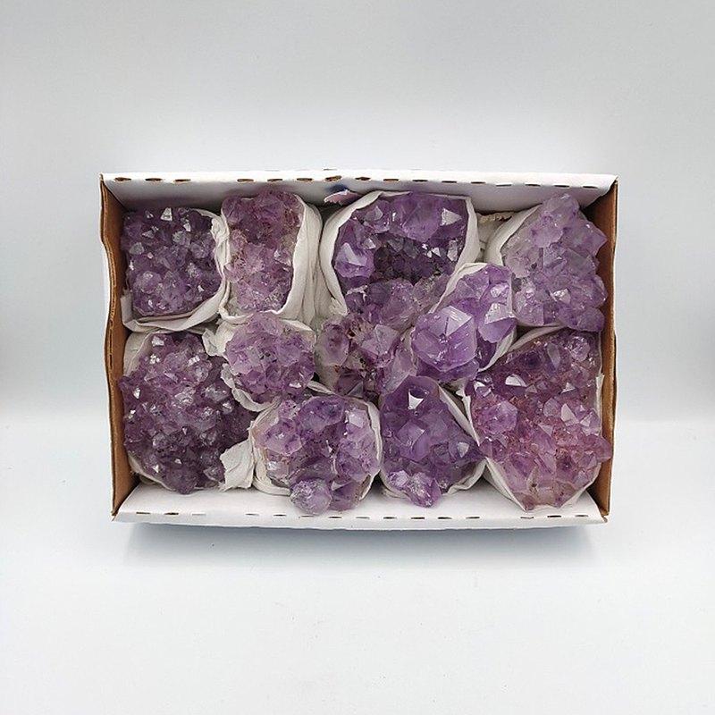 招財紫水晶花(盒裝) - 共8款 招財 擺飾 風水